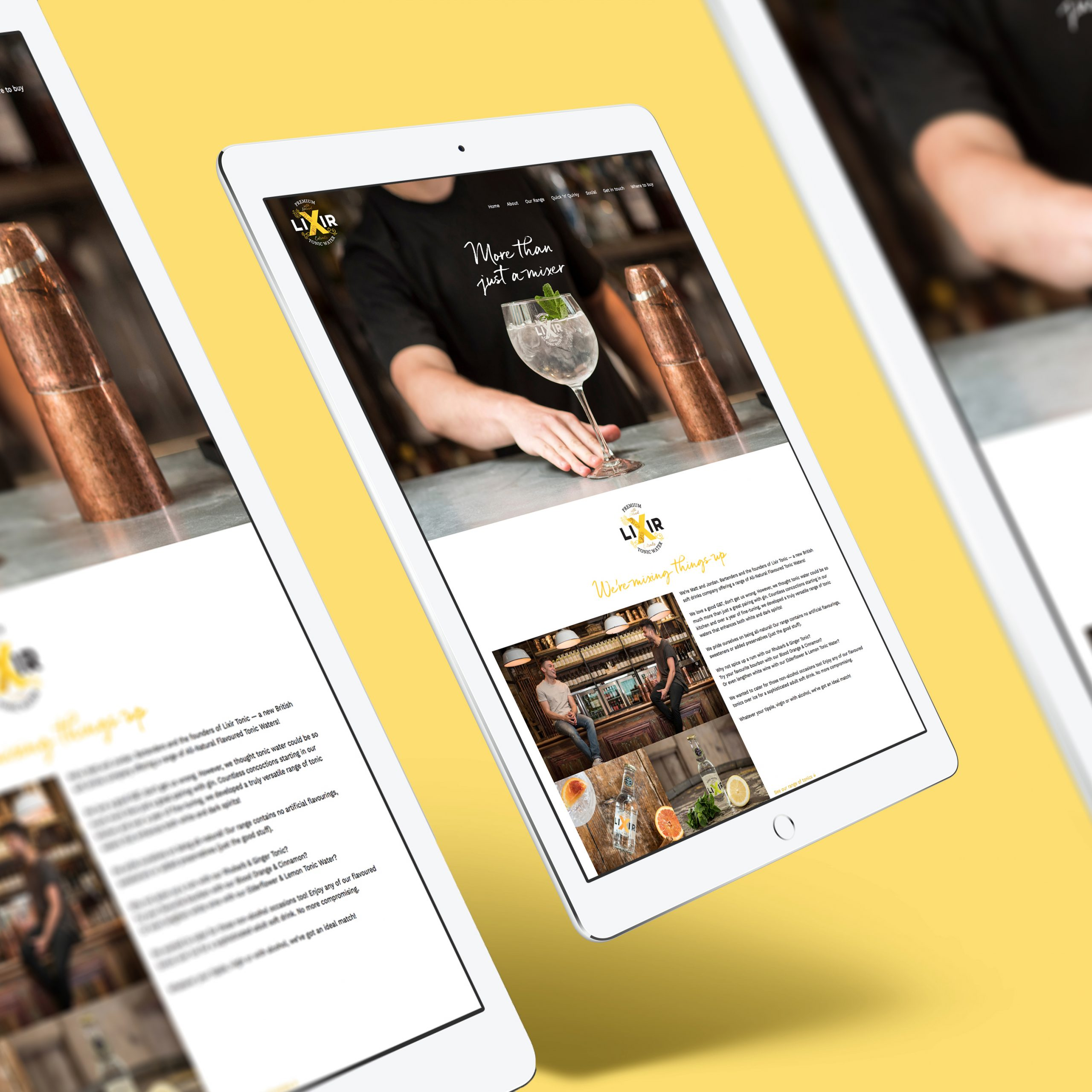 Lixir Tonic Website Design