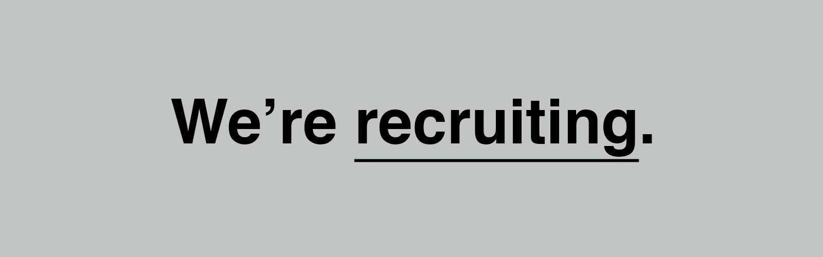 Wonderstuff are recruiting